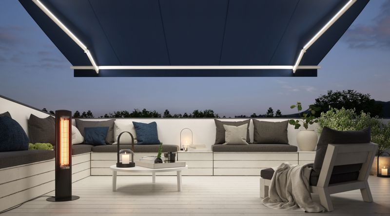 1300-Balkon Detail LED in Gelenkarm Wärmestrahler 201910