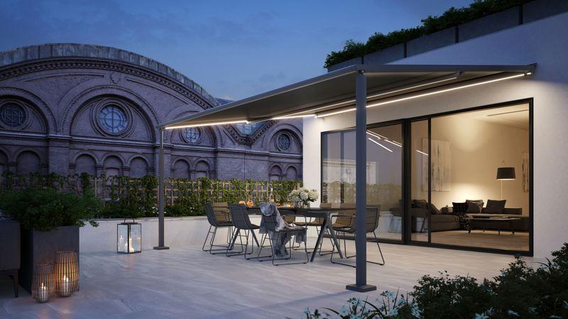 Pergola til små terrasser og altaner: markilux pergola compact