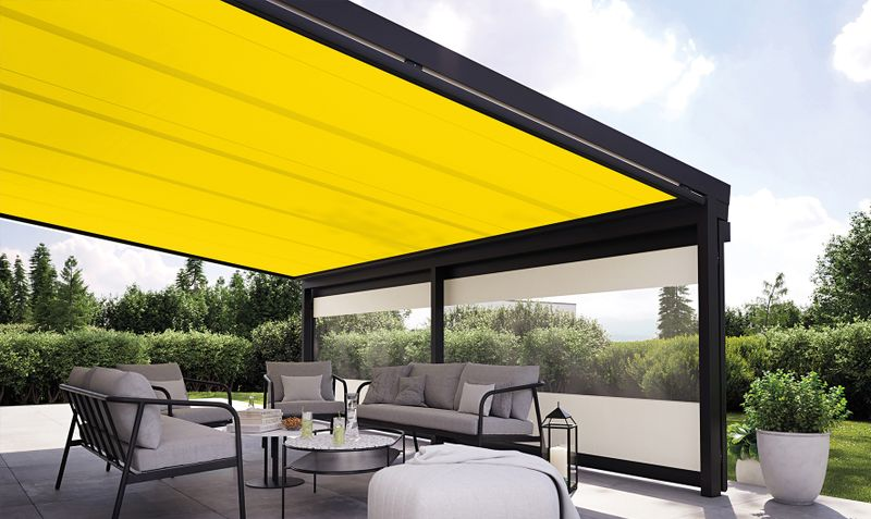 Conservatory awnings / Glass canopy awnings