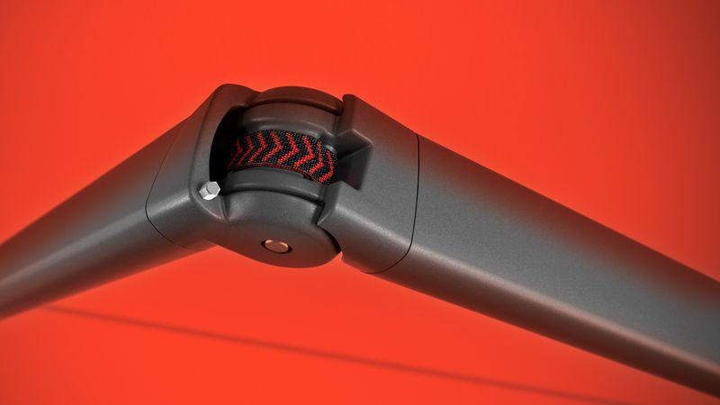 markilux Bionic-Sehne für reibungs- und geräuscharme Beugung der Gelenkarme