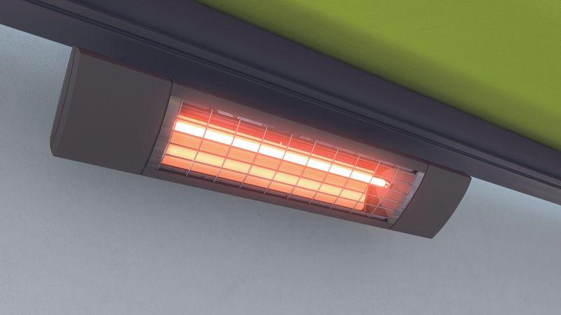 Elektrische Markisenheizung mit markilux Heizstrahlern: langlebig und energieeffizient