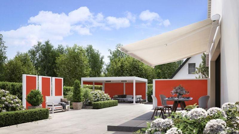 Markisensystem format-Haus mit Hof Imagebild Panorama 201905