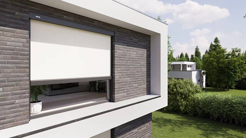 Fenstermarkise 779-776-weisserKubusKlinker Detail Fenster groß 201910