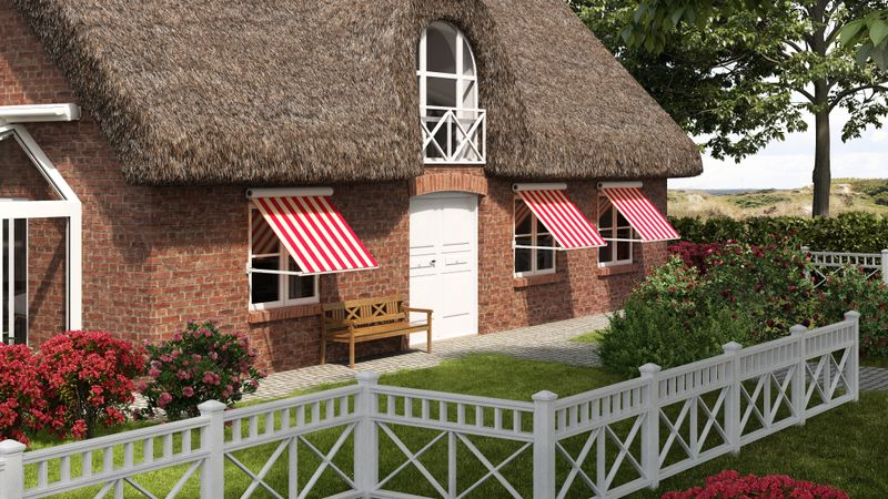 Fenstermarkise 830-Imagebild Haus mit Reet-201701