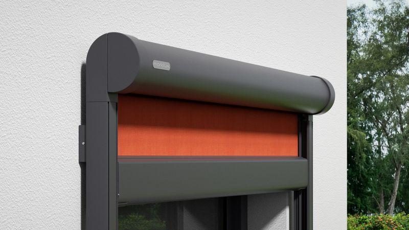 Fenstermarkise 876-Detail Kassette Wandmontage 0000 201910