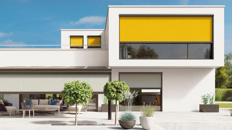 Fenstermarkise 876-Imagebild Haus B cam10 Tuch orange-201806