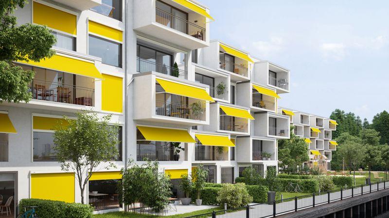Fenstermarkise markilux 730-776 Mehrfamilienhaus 202104
