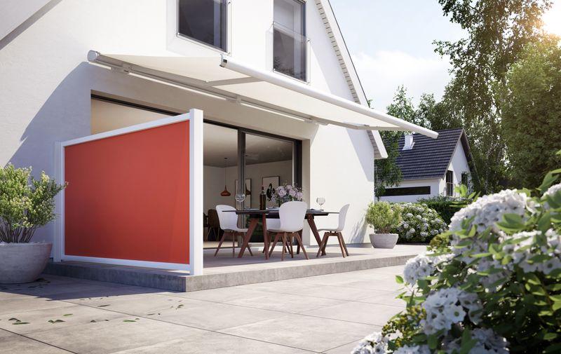 format-Haus mit Hof Detail 6000 Hauswand Terrasse 201905
